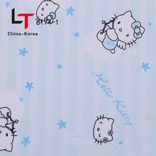 China Top quality Heat Transfer Printing hello kitty cartoon blue hot Film For Pvc Panel