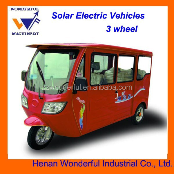 Environmental Sunshine Solar electric three wheel bike passenger