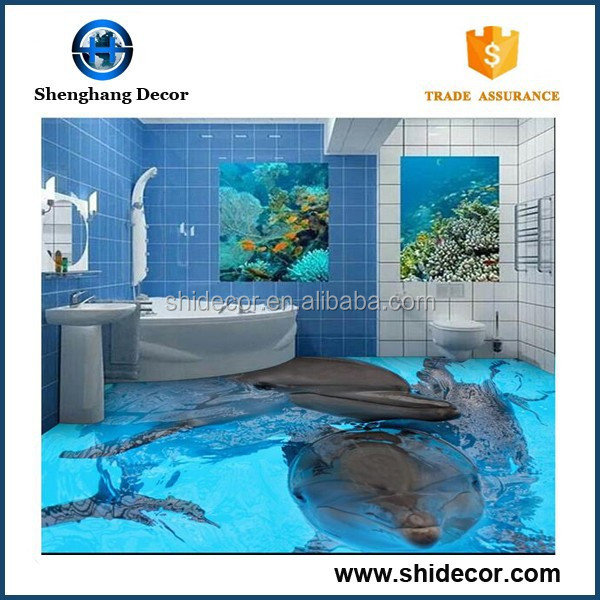 8x8 ceramic floor tile 3d seaworld decorations for bathroom tile ceramic 3d floor tile