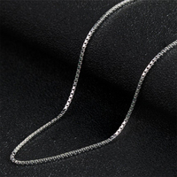 Wholesale online sterling silver box necklace link chain for women men