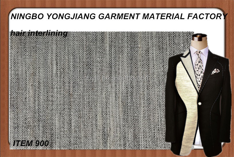 good quality horse hair interlining canvas interlining chest interlining for suit/coat 900