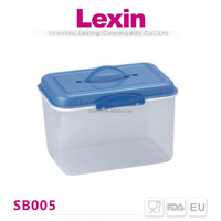large plastic containers with handles and lids for retail
