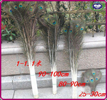 Factory exporting Christmas wedding docaration artifical cheap peacock feather for sale cheap