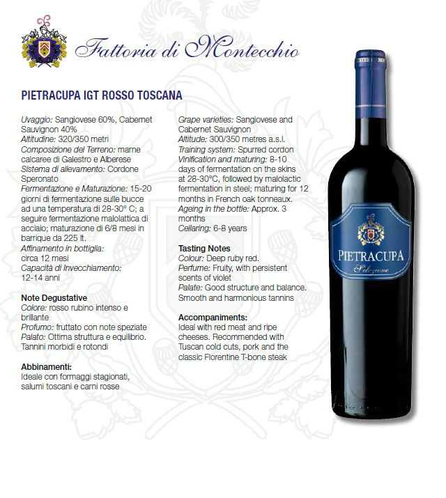 wines awarded from Chianti Tuscany
