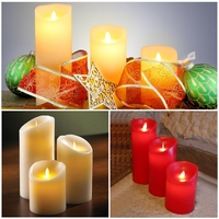"4""(10cm) Battary operated Flickering Flame led candle home decoration holiday decor supplies"