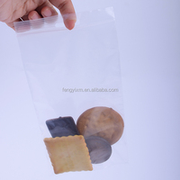 Household use food grade plastic ziplock bag with handle hole / hanger