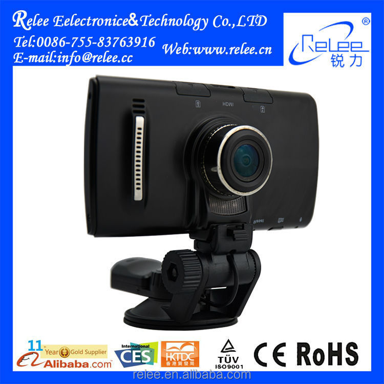 Wireless Android 4.0 system car dvr gps IR LED light car black box