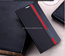 Contrast color Fashion PU Leather Wallet Flip Mobile Phone Case Cover For Nokia 501