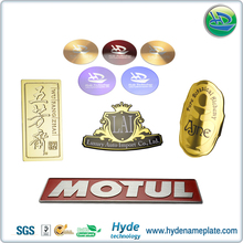 Custom Colorful Stainless Steel Or Nickel Or Aluminum Metal Logo Stickers Made in China Factory