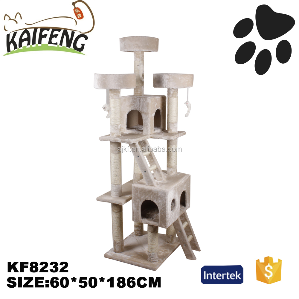 KF8232 new design cat tree house crate,wood cat furniture for large cats