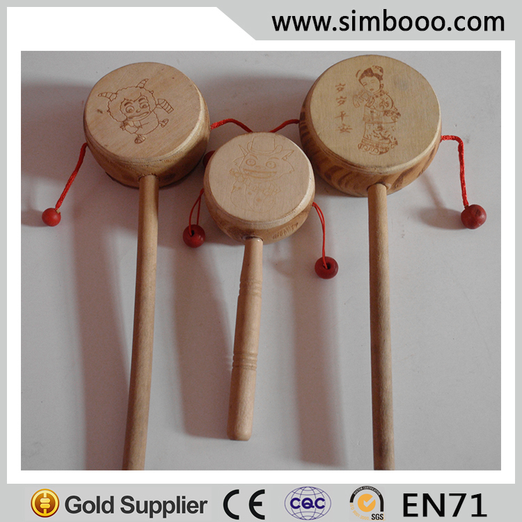 Drum-shaped Rattle Baby Rattle-drum Traditional Chinese Toys