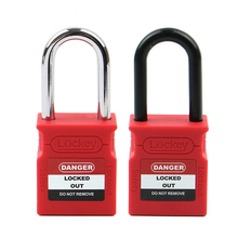 New Design Upgrade OEM Lock 38mm 76mm Steel Nylon Shackle Safety Padlock Lockout with Master <strong>key</strong>