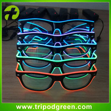 Customized Flashing EL Glasses / Glowing Led Party Sunglasses