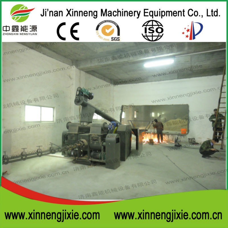 Biomass wood 8mm pellet and 70mm briquette corn stalk press plant for sale