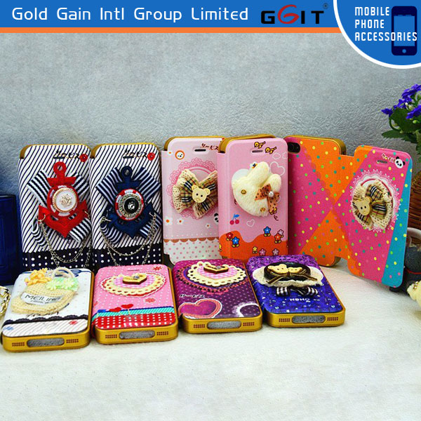 Elegant Wallet PU Leather Flip Case Cover Pouch For iPhone 5