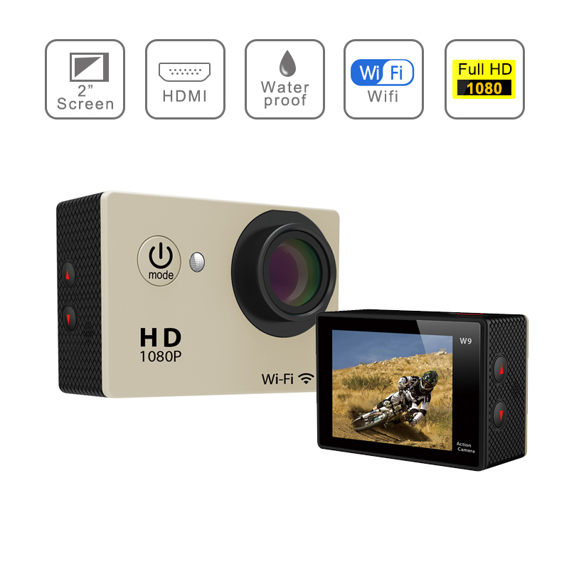 Hot sale Action camera HD 4K WiFi <strong>1080P</strong>/60fps 2.0 LCD 170D lens Camera waterproof camera SJ4000 style
