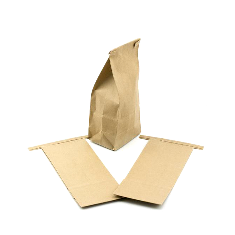 250g kraft paper laminated flat bottom tin tie bag