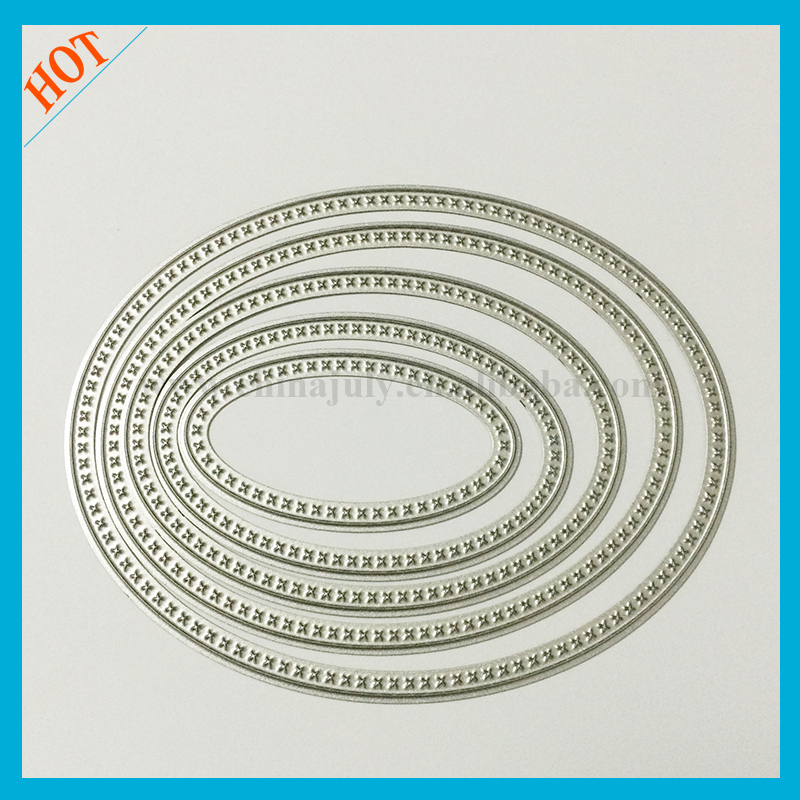 school embossing oval set metal cutting dies stencils for diy scrapbooking