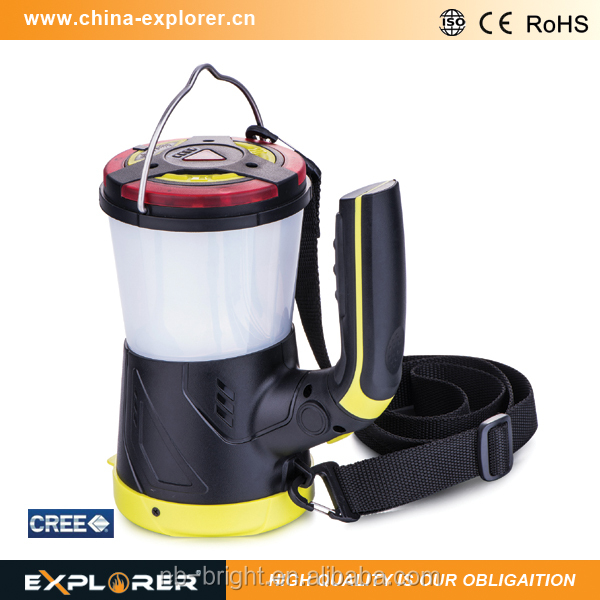 250 lumens multifunctional rechargeable led camping lantern