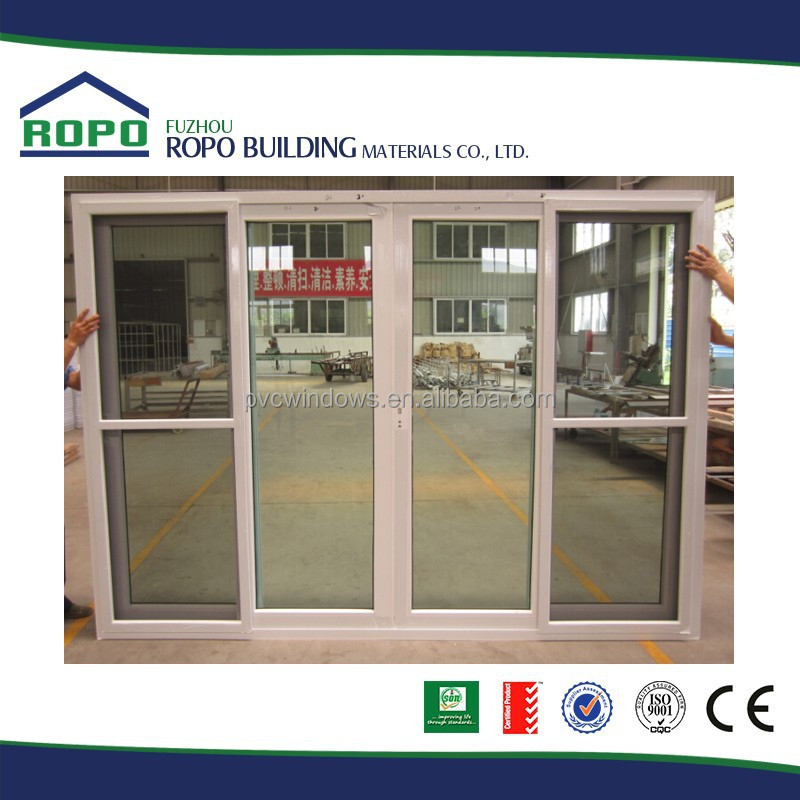 Australia Standard Four Panels Upvc Sliding Glass Door