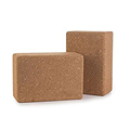 Wholesale Customized Logo Gym Fitness Sport Tool High Density Natural Non Toxic Eco Cork Yoga Block for Yoga Exercise