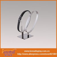 Double Circle Stainless Steel Belt Display Rack Holder