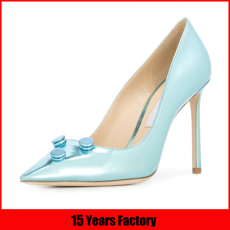 2018 new style pointed toe high heel women pump shoes
