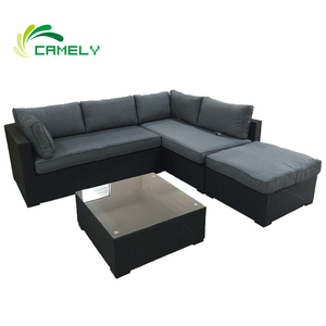 classic sofa rattan fabric upholstery UV-Resistant garden furniture outdoor rattan sofa handmade lounge sofa modern