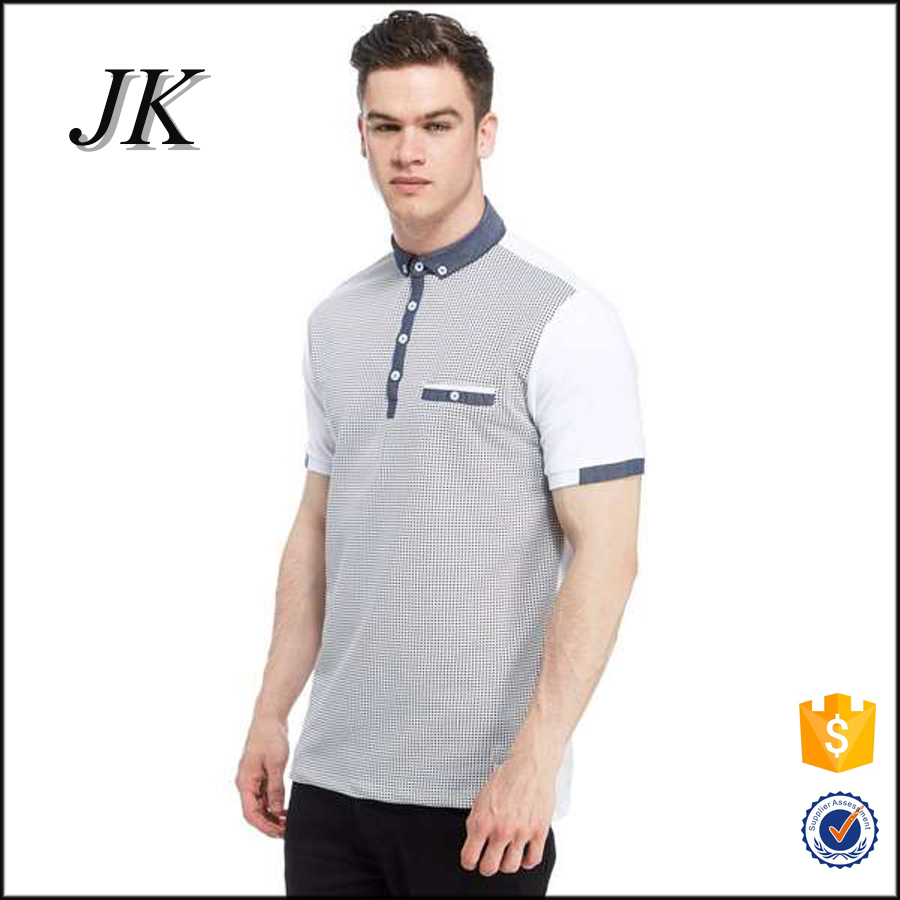 2017 fashion cotton/polyester classic mens t shirts polo