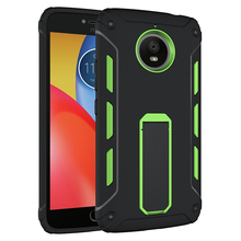 ultra stand hybrid two pieces plastic cell phone tpu pc cases covers for Moto E4 plus case by china manufacturer