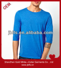 wholes cheap mens 3/4 sleeve t shirt