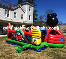 Customize Amusement Fun City Mickey Mouse Inflatable Playground for Rental