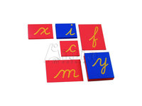 montessori -Lower Case Cursive Sandpaper Letters only montessori teaching materials toy