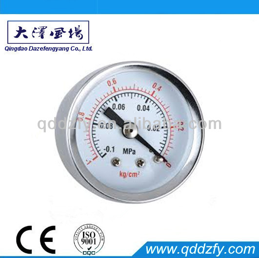 Vacuum compound vacuum pressure gauge with axial connection