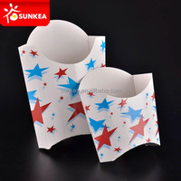Custom printed hot chip cups / Folding paper french fires box