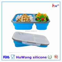 Hot selling customized silicone collapsible lunch box