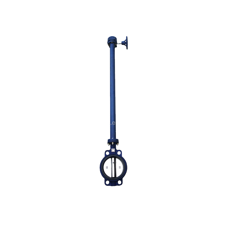 12 inch pn10 pn16 api609 cast iron long neck long stem butterfly valve