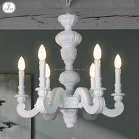 Caren European vintage resin 6 lights dining room pendant lamp chandelier