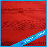 polyester tricot mesh football jersey fabric