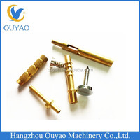 customized brass/copper pole/bar /Screw CNC brass machining parts brass turning parts