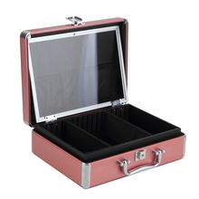 Double-layer aluminum beauty case makeup kit eyelash packaging