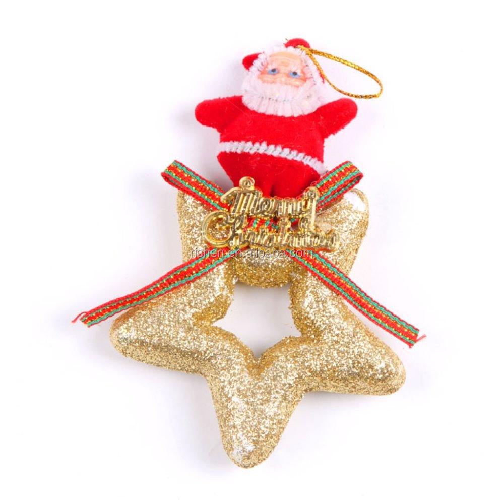 christmas santa and foam star decorations xmas tree hanging ornaments