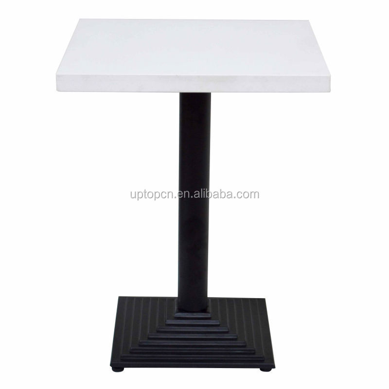 Square clasic black and white restaurant table used (SP-RT109)