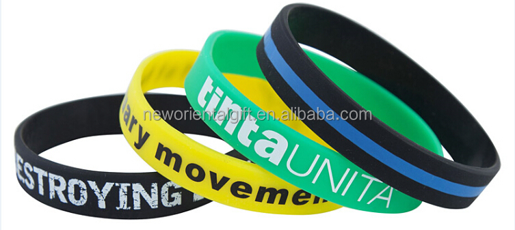Cheapest Printing Rubber Wristbands/Custom Logo Rubber Wristbands