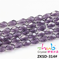 2015 Factory Price Crystal Drop Pendant Jewelry Beads Water Drop Beads Tear Drop Glass Bead