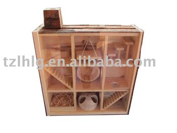 Observable Wooden Pet House