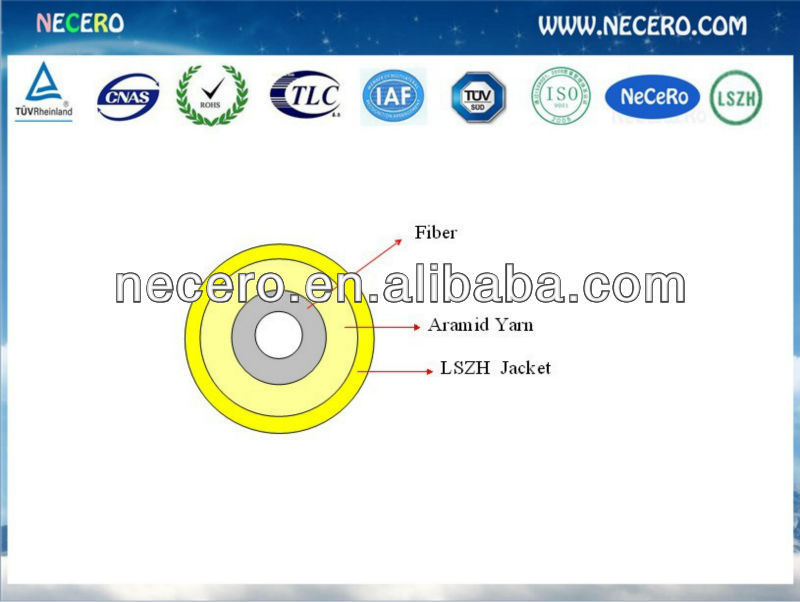 Simplex soft Indoor Optical Fiber Cable