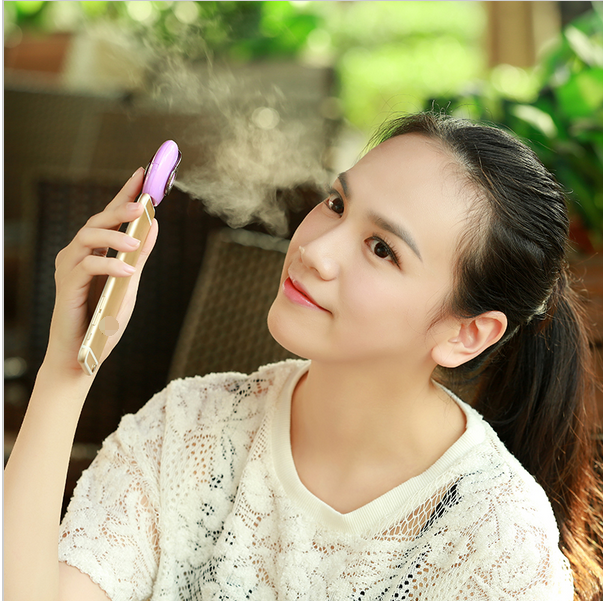 Mini Steam Facial for phone Humidifier Cell Phone Beauty Mist Spray Diffuser Portable Filling Water Phone Humidifier