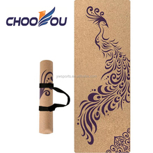 Custom Eco Friendly Cork Yoga Gymnasium Mats