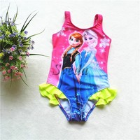 Best selling frozen kids swimming suit Frozen swimwear for Girls bathing suit wholesale price